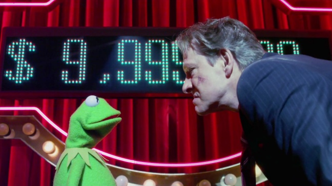 Chris Cooper giving The Muppets a rarely seen skeptical eye.