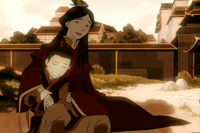Zuko did have a happy childhood with his mom... until she was exiled.