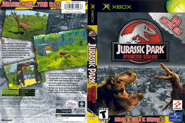 Pretty much everything you would want in a Jurassic Park video game.