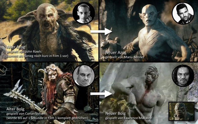 The original costumes were relegated to smaller parts in the final trilogy.