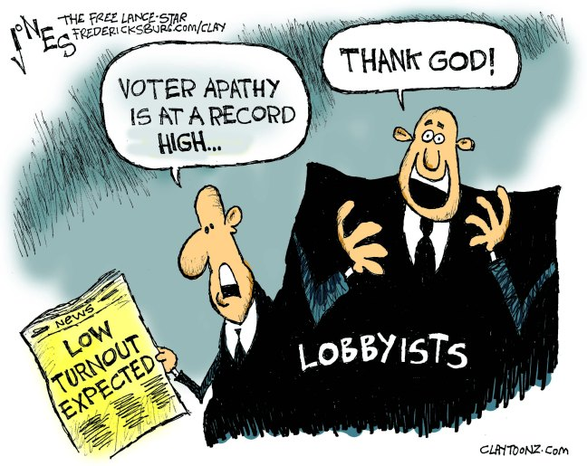 Those dreading government corruption have more reason to vote than most. After all, if you don't vote - there becomes very few ways to get the corrupt out of office (many of them not pretty).