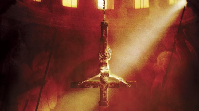 Lot of upside-down cross imagery in this film. Odd as this is not a symbol of satanism.