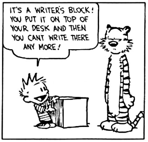 blogging writer's block