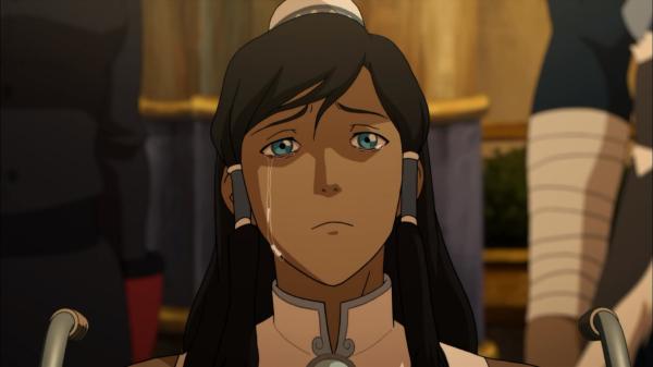 Korra end of season three crying