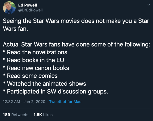 Star Wars fandom gatekeeping toxic