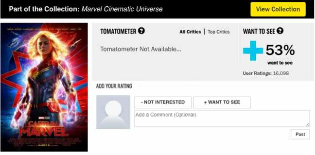 Captain Marvel Review Bomb