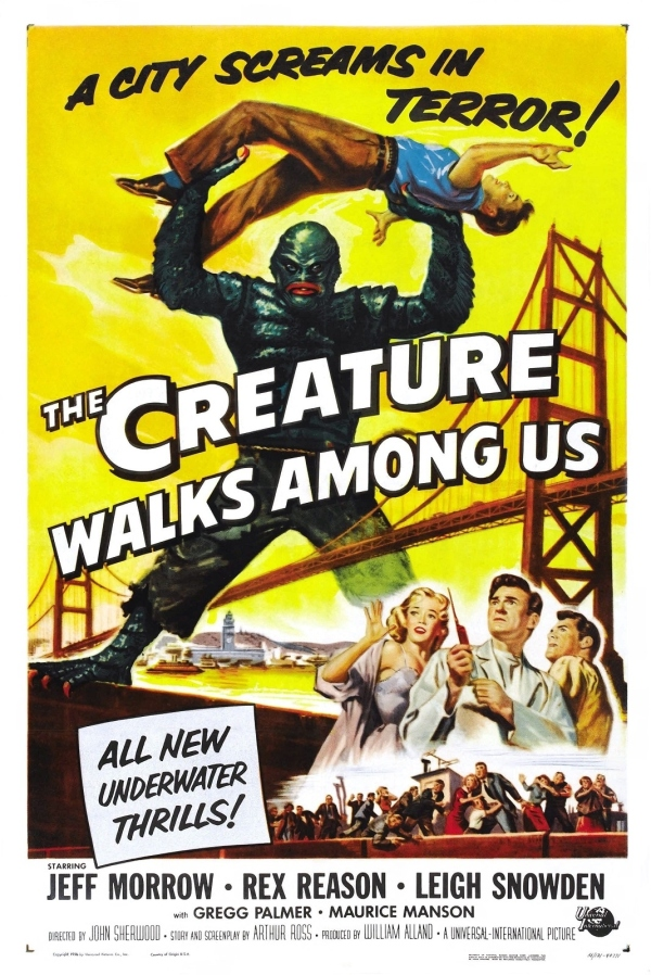 The Creature Walks Among Us theatrical poster